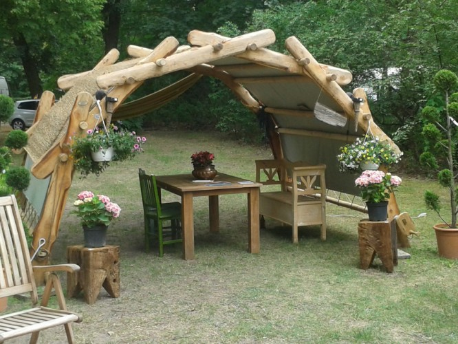 garten pavillon woodsche marktstand berdachung carport da vinci bogenbr cke antikhof. Black Bedroom Furniture Sets. Home Design Ideas